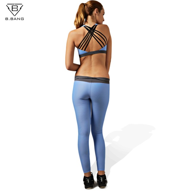 620d8491d B. BANG mujer Yoga conjuntos Sujetador deportivo y mallas ropa deportiva  femenina para correr Fitness