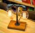 Indústria Da Decoração Tubulação de Água Loft País da américa Criativo Vento Cafe Bar Edison Lâmpada de Mesa de Luz Mesa Para Café Bar Cabeceira