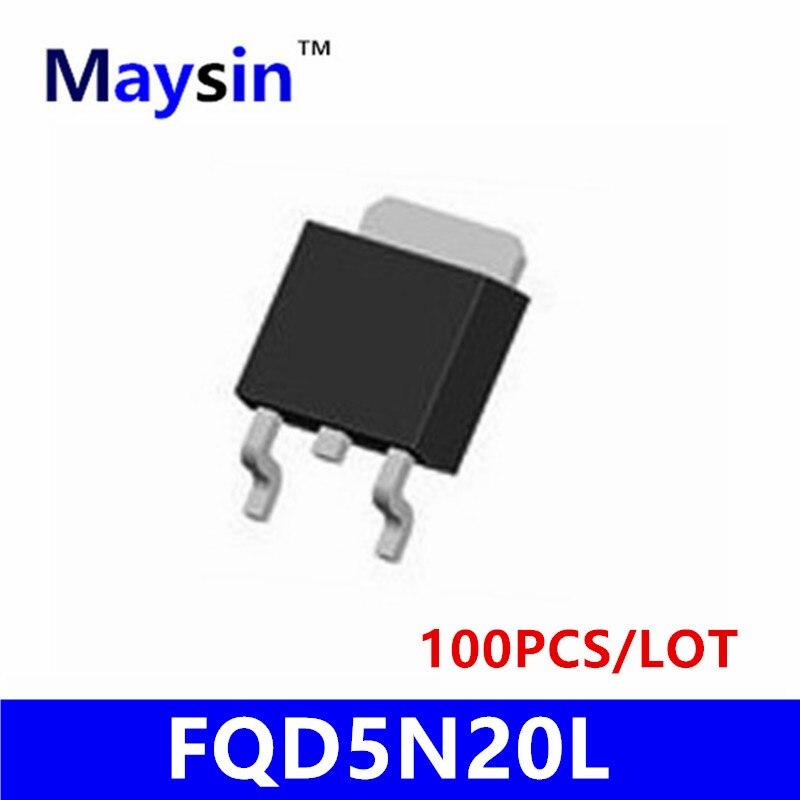 100PCS FQD5N20L FQD5N20 TO252 D5N20 5N20 SMD HIGH QUALITY