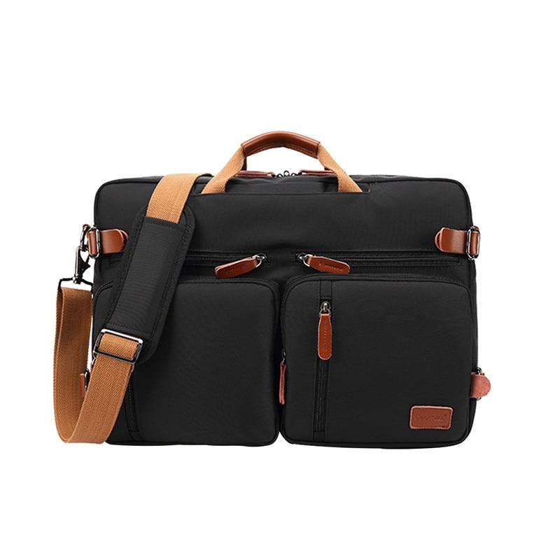 Convertible Backpack Laptop bag 17 Inch Notebook Case 17.3 Shoulder Messenger Laptop Case Bag Business Briefcase Handbag