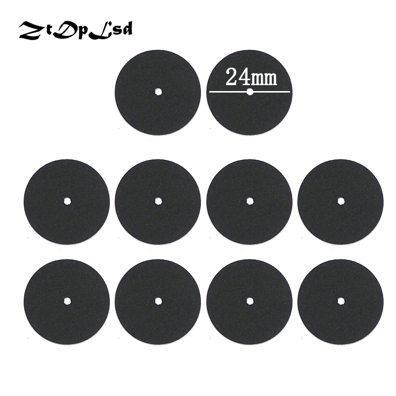 ZtDpLsd 10Pcs Black 24mm Abrasive Disc Cutting Disc Reinforced Cut Off Grinding Wheel Rotary Blade Disc Tool Parts