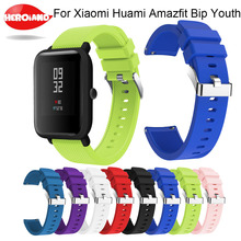 Fashion Silicone Watch Bands Wrist Strap for Xiaomi Huami Amazfit Bip BIT PACE Lite Youth Smart Watch Replacement band for huami mijobs 20mm silicone wrist watch band strap for xiaomi huami amazfit bip bit pace lite bracelet smart watch pulseira accessories
