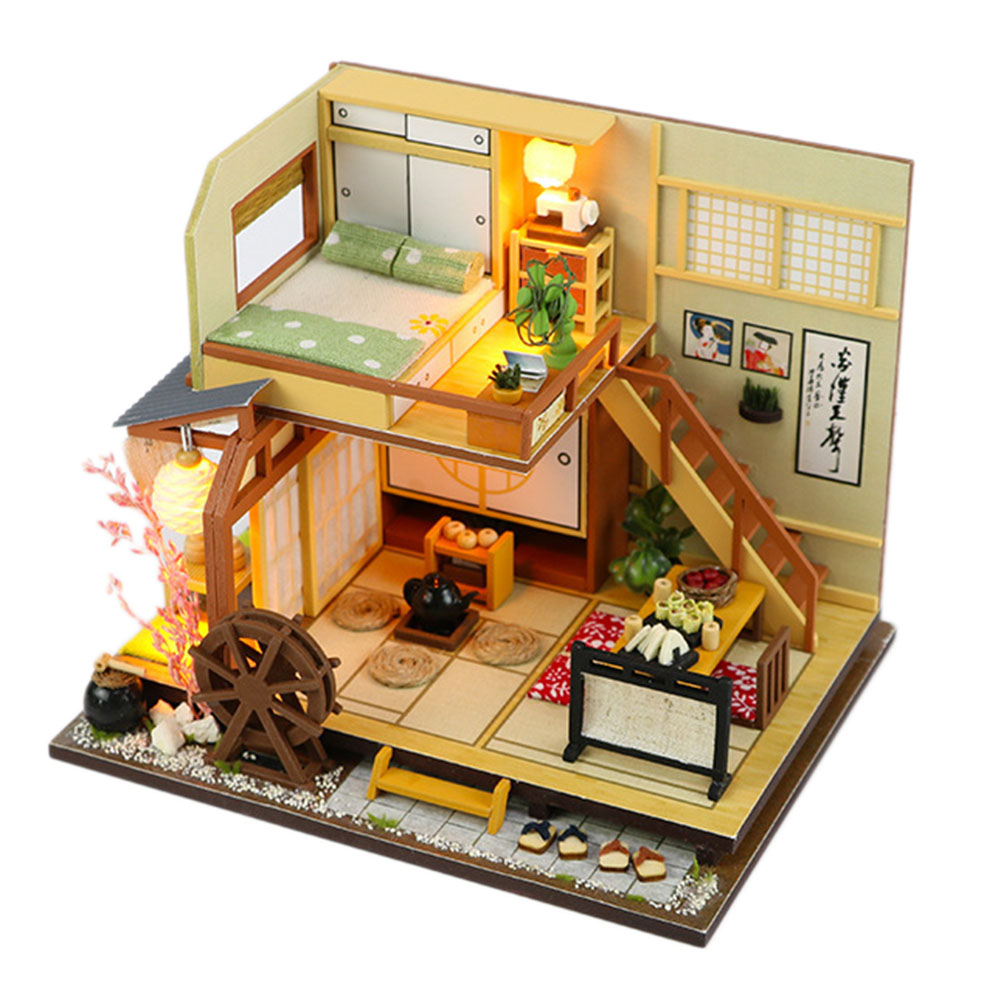 Diy Doll House Furniture Miniature Forest Holiday Anese Style With Led Children S Wooden Gift Toy