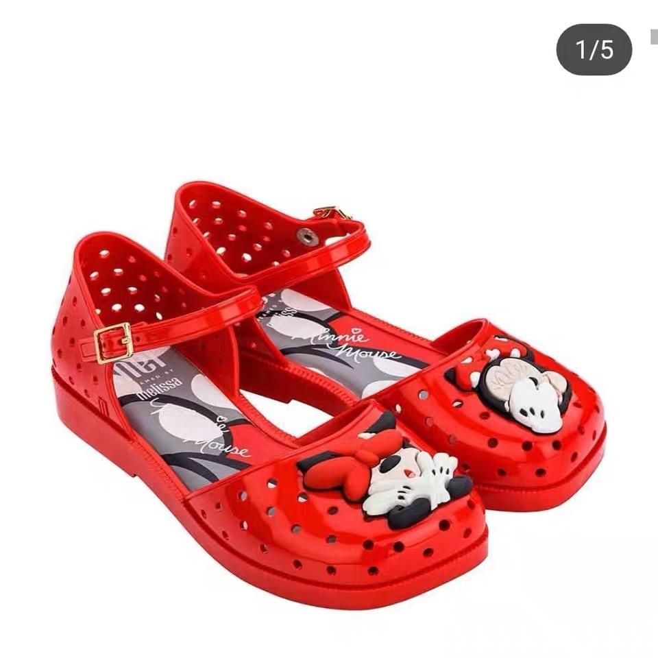 Mini Melissa Mel Furadinha 2020 New Girls Sandals Sapato Infantil Menina Children Shoes Girls Melissa Shoes Size 28-33