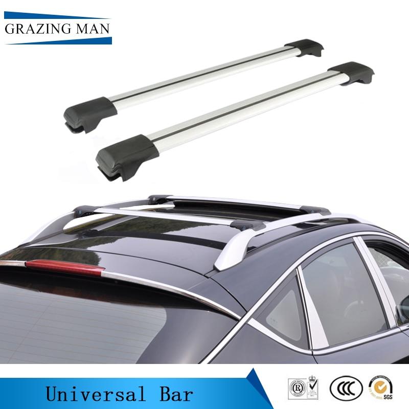 Hot selling aluminum alloy Rail roof rack for Car general motors aluminum alloy rail structure 105 cm roof roof rack