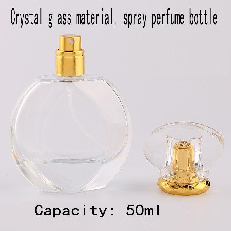 50ml Tragbare Klar Reise Nachfüllbare Zerstäuber Spray Parfüm Glas Leere Flasche Tragbare Transparent Kompakte Größe Nachfüllbar