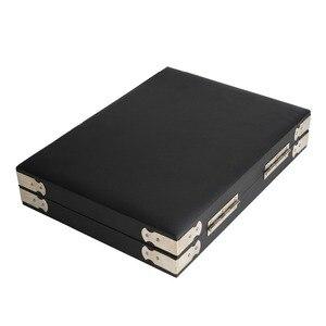Image 3 - Yüksek kaliteli siyah deri taş seyahat kutusu elmas saklama kutusu takı tutucu 2.8cm 70 adet, 4cm 48 adet içinde mücevher kutusu taşınabilir
