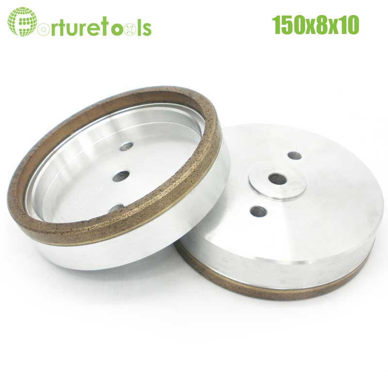 1pc Full rim 4# diamond wheel for building glass straight line machine Dia150x8x10 Inner Diameter 12/22/50 grit 100# 240# BL015 1pc internal half segment 2 diamond wheel for glass straight line double edger dia150x10x10 hole 12 22 50 grit 150 180 bl008