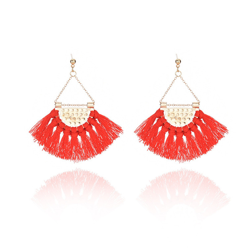 NEW Simple Fashion Stud Earrings Charm Hot Sector Tassel Earrings For Women New Arrival Popular Trend Beautiful Stud Earrings