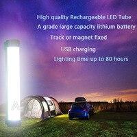 充電式ワイヤレス多機能緊急ライト7ワットledキャンプランプ10400 mahバッテリ容量ledチューブ