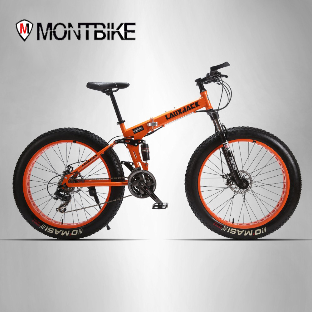 LAUXJACK 26 * 4.0 mountain bike bicycle dual disc brakes 24 snowmobile speed Bike wide wheeled ATVs part of Russia free Shipping mountain bike four perlin disc hubs 32 holes high quality lightweight flexible rotation bicycle hubs bzh002