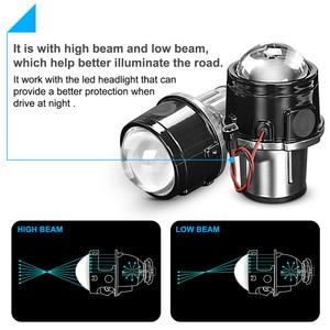 Image 3 - 金属2.5インチバイキセノンhid自動車スタイリングフォグライトプロジェクターレンズhi/loユニバーサルランプ車レトロフィットH11 hid led電球