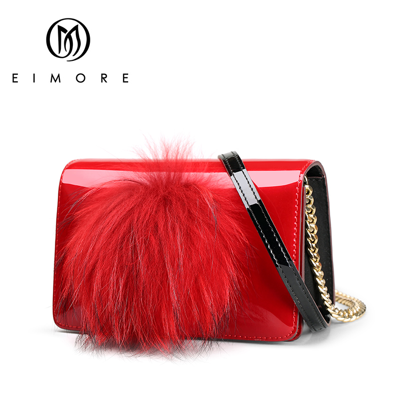 EIMORE Genuine Leather Small Bags For Women Messenger Shoulder bags Luxury Designer Ladies Crossbody Bags with Feathers Fashion free shipping 10pcs ad9850brs in stock