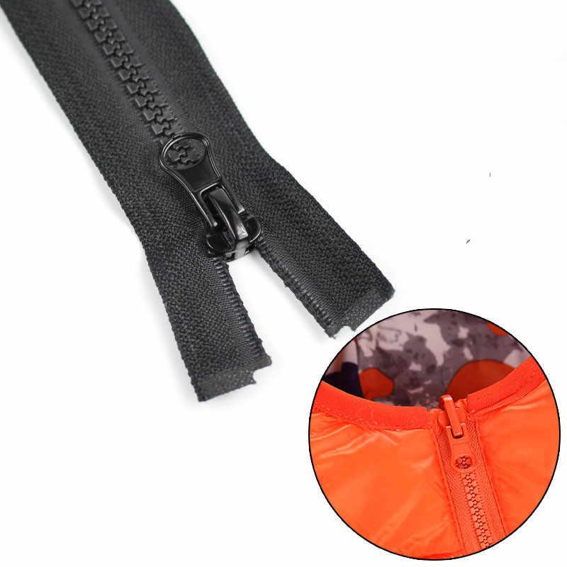 Cncraft 1 pçs 5 # zíperes de extremidade aberta zíper 70cm resina zíper para costura vestuário longo casaco para baixo jaqueta, costura diy 10 pçs/lote