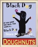abstract art to buy Black Dog Doughnuts by Ken Bailey paintings 100%handmade High quality