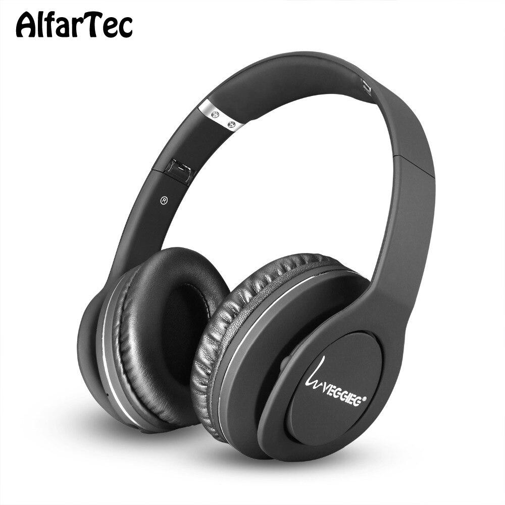 New Headphone With Bluetooth V4.1 FNC Portable Handsfree Headband Wireless Bass Sound Noise Canceling Headset For PC Game Phones portable bluetooth v3 0 wireless headband headphone orange white