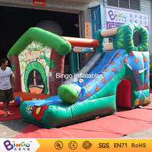 PVC Material Trampolines Inflatable Park 4*4*2.6M Trampoline Inflatable Water Slides for sale with Blower inflatable amusement