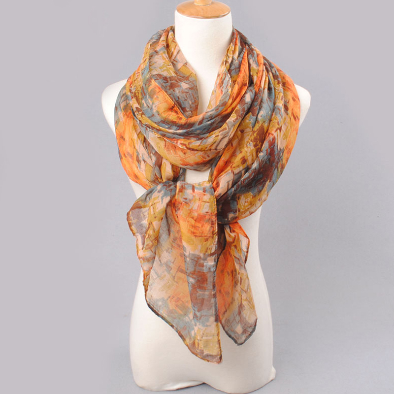 2019 högkvalitativ KVINNA SCARF bomullslöst polyester scarves solid - Kläder tillbehör - Foto 4