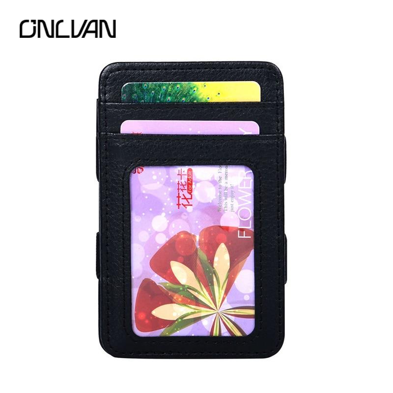 938d3addb43 Nieuwe stijl geld Clip Magic Wallet kaarthouder Creditcard Cover met ...
