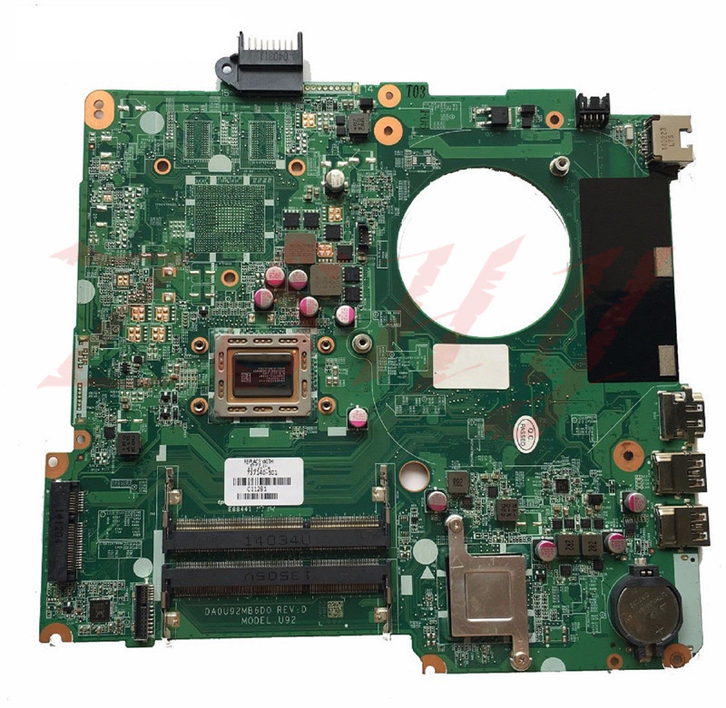 For HP 15 N Laptop Motherboard DA2U92MB6D0 737140 501 A10 CPU Free Shipping 100% test ok|Laptop Docking Stations| |  - title=