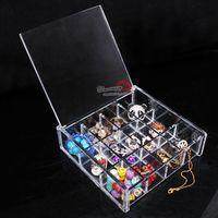 Qualità di cristallo 12 perline fai da te parti box accessori contenitore di monili scatola di immagazzinaggio scatola di immagazzinaggio di monili
