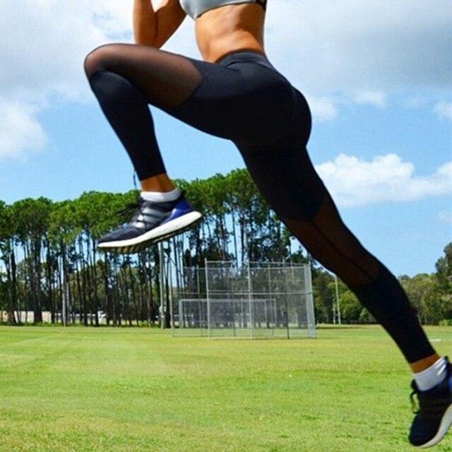 Women Sport Leggings Fitness Yoga Pants Black White Athletic Leggings Sport Tight Mallas Mujer Deportivas Gym Clothes Running