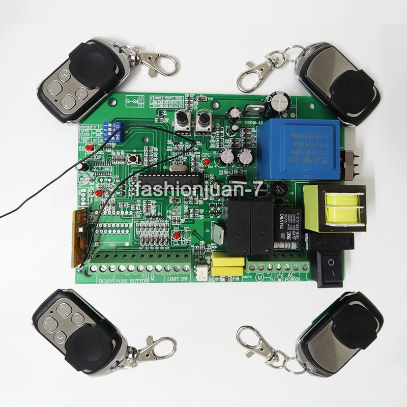 Hot AC sliding gate opener control board + 4pcs remote control,learning code