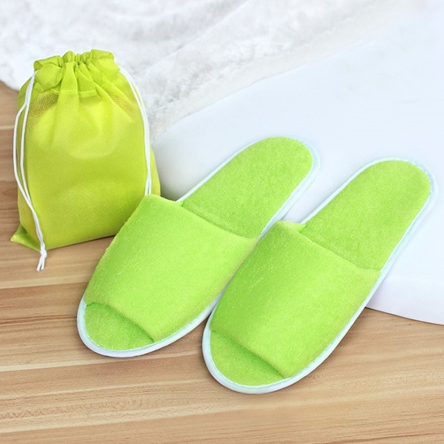 New Simple Hotel Travel Spa Portable Folding House Slippers 4