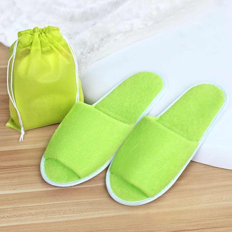 150dc7ae5 ... New Simple Slippers Men Women Hotel Travel Spa Portable Folding House  Disposable Home Guest Indoor Slippers ...