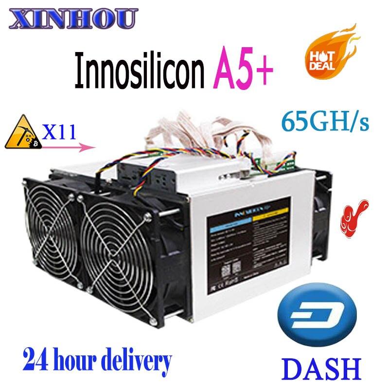 ASIC DASH Miner Innosilicon A5 + Dashmaster 65Gh/s 1500 W X11 mineur plus économique que A7 A5 A9 antminer D5 D3 Z9 S9 Baikal G28