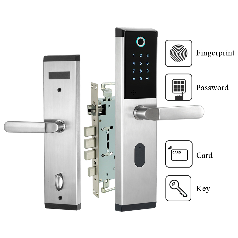 Biometric Fingerprint Door Lock Intelligent Keyless Electronic Combination Code Password Door Lock
