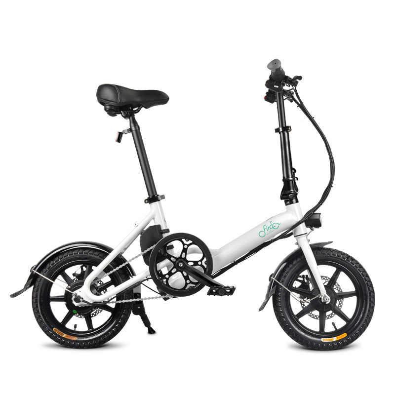 2019 Новое поступление Электрический велосипед 14 дюймов D3 складной электрический скутер электрический велосипед надувные резиновые шины с дисковым тормозом FIIDO Системы