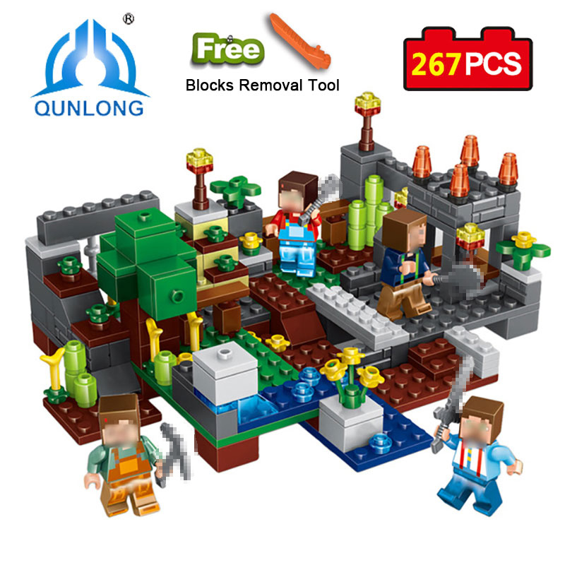 Qunlong 0506 Toys 4 in 1 Town Group Building Blocks Figures Bricks Educational Toys For Kids Compatible Legoe Minecraft City цена