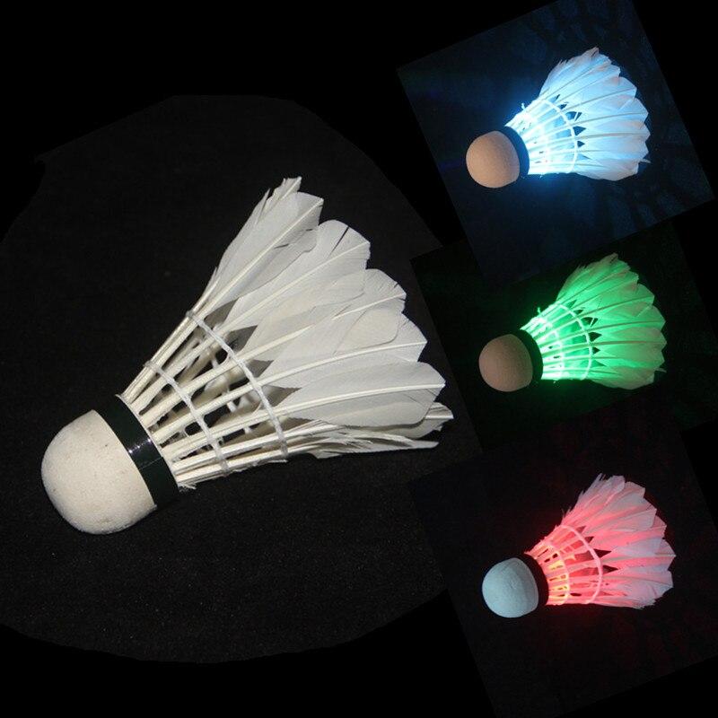 Badminton Shuttlecock Dark Night Glow Birdies Lighting For Outdoor & Indoor Sports Activities, 4-piece