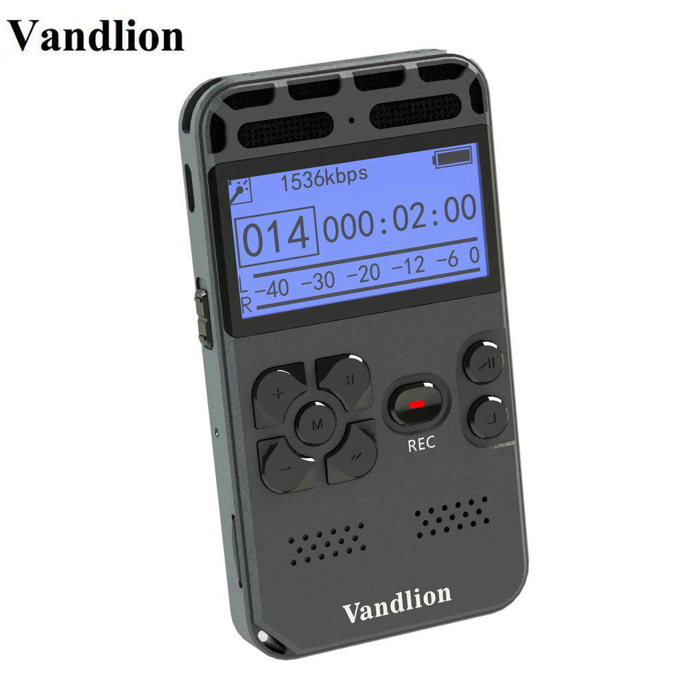 Vandlion enregistreur vocal numérique enregistrement Audio Dictaphone MP3 LED affichage vocal activé 8 GB 16 GB mémoire réduction de bruit V35 - 4