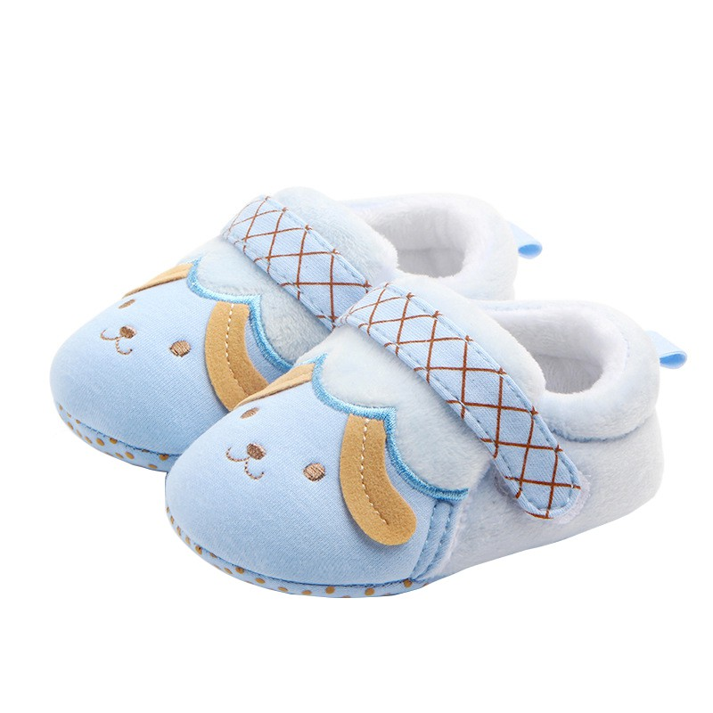 Winter Shoes Baby Boys Girls Warm Lovely Cartoon Pattern Antiskid Soft Bottom Shoes For 0-9Month Kids