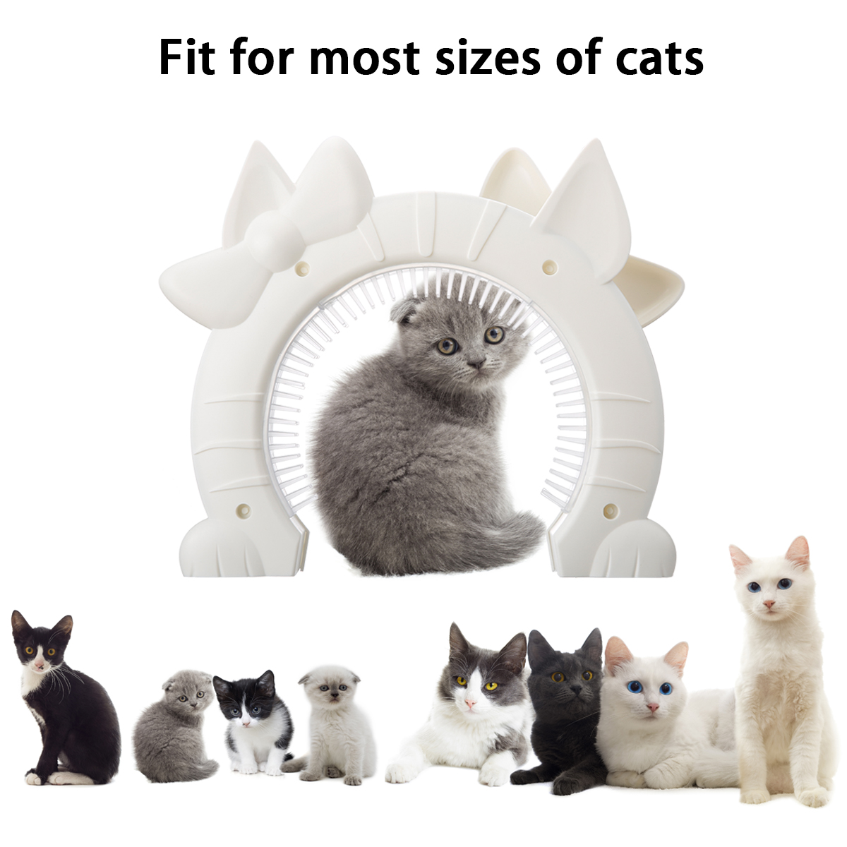 Lovely Pet Cat Door Gate Puppy Gates With Hollow Core ABS Material For Cats  In And Out Freely Easy Installation Pet Products In Cat Crates U0026 Cages From  Home ...