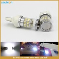 Super Bright white 7443 W21/5W Reflector LED Bulbs with 48 3014 SMD 7444 W21W car styling