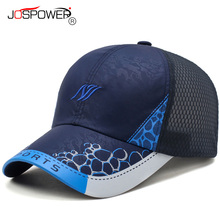 JOSPOWER New Summer Men Women Sun Hat Breathable Mesh Cap Casquette Fashion Sunscreen Baseball Caps Snapback bone