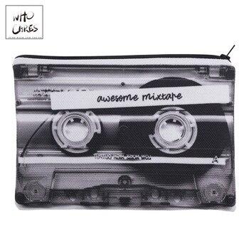 Bolsa de lápiz con estampado 3D de cinta mixta, neceser, bolsa de...