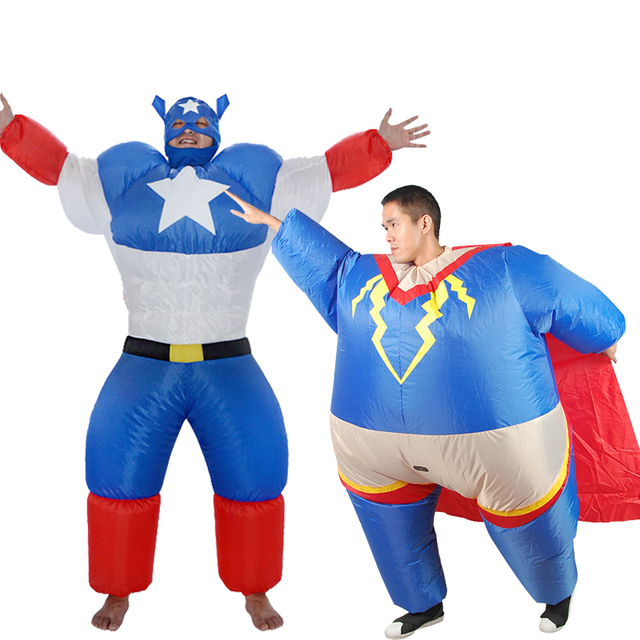 67ac159835f US $29.99 40% OFF|Inflatable superman costume carnival cosplay superhero  costume christmas costume for adult carnival costume party fancy dress 9 on  ...