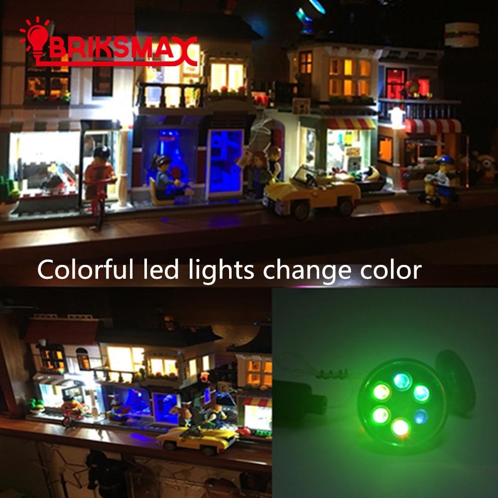 BRIKSMAX Led строителни блокове с LED светлини Цветни светлинно-излъчващи детски играчки за деца Коледен подарък