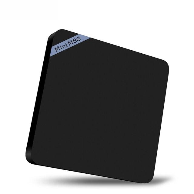 Nuevo Mini M8S S905X II Smart TV Box Amlogic Quad Core Android 6.0 64Bit 4 K Decodificación VP9 2 GB DDR3 8 GB de máster erasmus mundus Apoyo BT 4.0 y WiFi