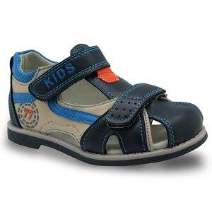 Image 2 - Apakowa Sandalias de goma con punta cerrada para niños, zapatos ortopédicos de verano con soporte para arco, a la moda