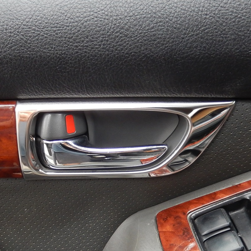 STAINLESS STEEL Inner Interior Inside Door Handle Covers Frame Trim for Toyota Land Cruiser Prado J120 2003 2004 2005 2006-2009 Toyota Land Cruiser