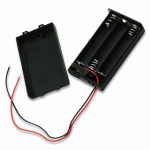 Image 5 - Siyah plastik 2x 3x 4x AA AAA pil saklama kutusu durumda 2 3 4 yuvası yollu DIY 3A piller klip tutucu konteyner tel kurşun ile Pin