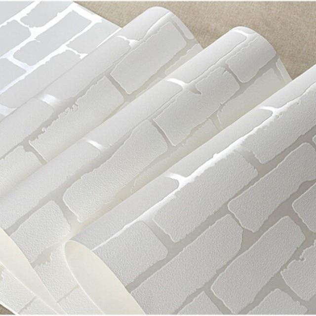 Beibehang Mur Papier Decor A La Maison Moderne 3d Brique Blanc Bleu