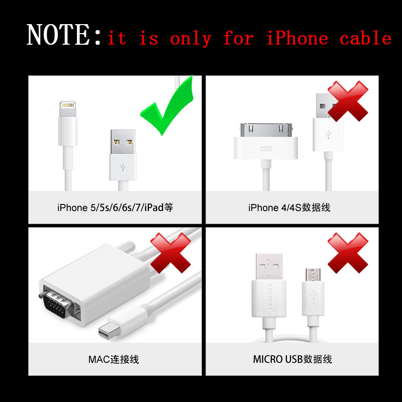 5PCS  for iphone Cable protector usb cable wire organizer winder Heat Shrink Tube Sleeve for iPad iPhone 5 6 7 8 X XR XS Cable