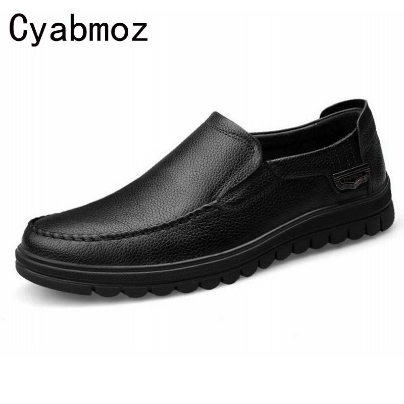 Cyabmoz 2017 Flats New Arrival Brand Casual Shoes Men Genuine Leather Loafers Shoes Comfortable Handmade Moccasins Shoes Oxfords cyabmoz 2017 flats new arrival brand casual shoes men genuine leather loafers shoes comfortable handmade moccasins shoes oxfords