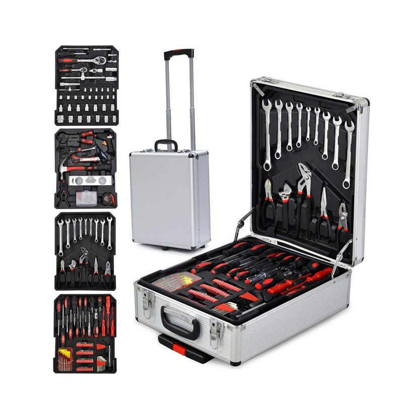 599pcs Tool Set Case Mechanics Kit Box Organize Castors Toolbox Trolley Tool Box Large Storage For Tools Components